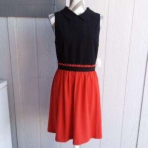 NWT Kensie Fall Bright Red Orange Sleeveless Dress